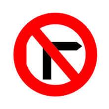 تابلو گردش به راست ممنوع