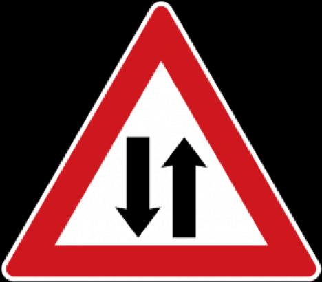 تابلو جاده دو طرفه