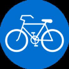 تابلو راهنمایی و رانندگی فقط عبور دوچرخه