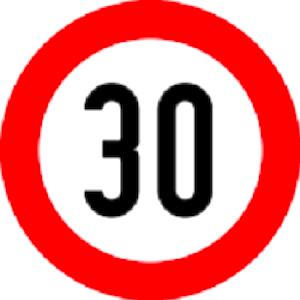 سرعت بیش از 30 کیلومتر بر ساعت ممنوع