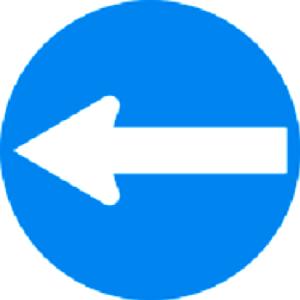 فقط عبور به چپ مجاز است