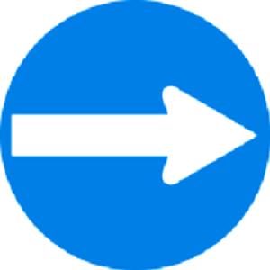 فقط عبور به راست مجاز است
