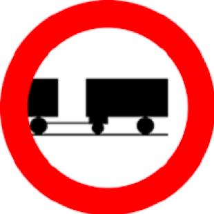 عبور کامیون یدک دار ممنوع