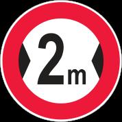 عبور با عرض بیش از 2 متر ممنوع