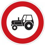 تابلو راهنمایی و رانندگی عبور خودرو کشاورزی ممنوع