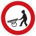 تابلوهای راهنمایی و رانندگی عبور چرخ دستی ممنوع
