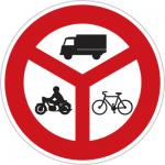 تابلوهای راهنمایی و رانندگی عبور کلیه وسائل نقلیه ممنوع