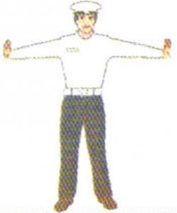 علامت دست پلیس