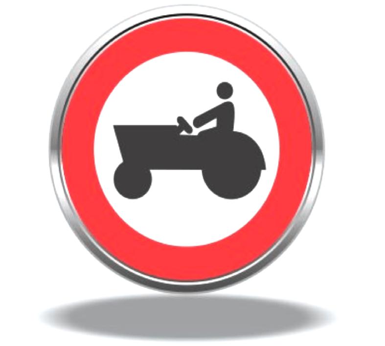 عبور خودرو کشاورزی ممنوع