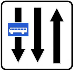 تابلو های راهنمایی و رانندگی خط ویژه عبور