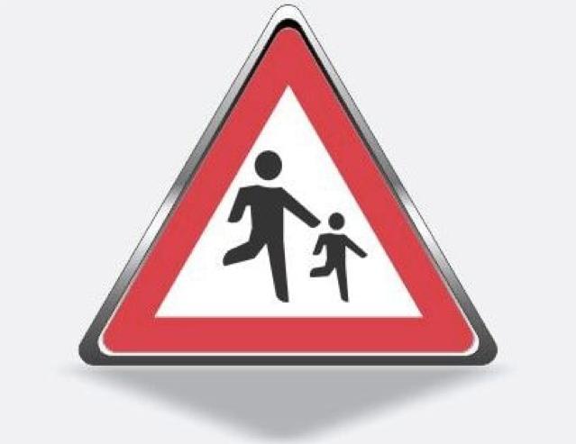 تابلو راهنمایی و رانندگی عبور اطفال
