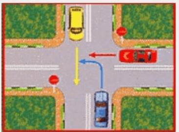 نمونه سوالات تقاطع آيین نامه رانندگی